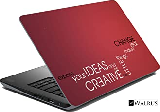 Walrus Quotes Laptop Skin (Red)