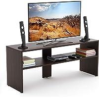 BLUEWUD Oliver Engineered Wood TV Unit/Entertainment Center Table (Wenge)