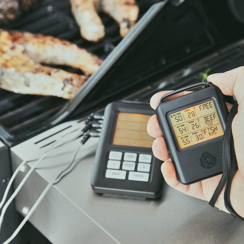 Grillthermometer Funk BBQ Thermometer für Grill /& Backofen Bratenthermometer