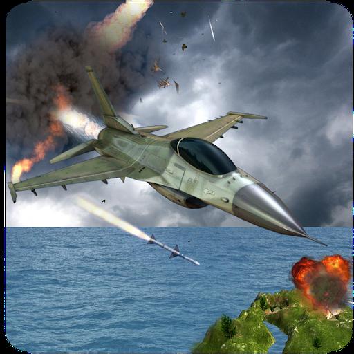 F16 Air Jet Fighter Abenteuer Simulator 3D: Hundekampf Air Pilot Strike Kampf Flug Überleben Hero Avion Force Games kostenlos für Kinder 2018