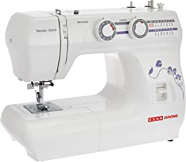Usha Janome Wonder Stitch Automatic Zig-Zag Electric Sewing Machine (White)