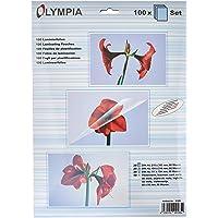 Olympia 9165 Pochettes de plastification à chaud, (20 x A4, 20 x A5, 20 x A6, 40 pochettes pour cartes de visite), 80…