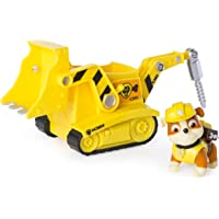 Paw Patrol Nickelodeon, Paw Patrol - Rubbles Diggn Bulldozer, Vehicle And Figure