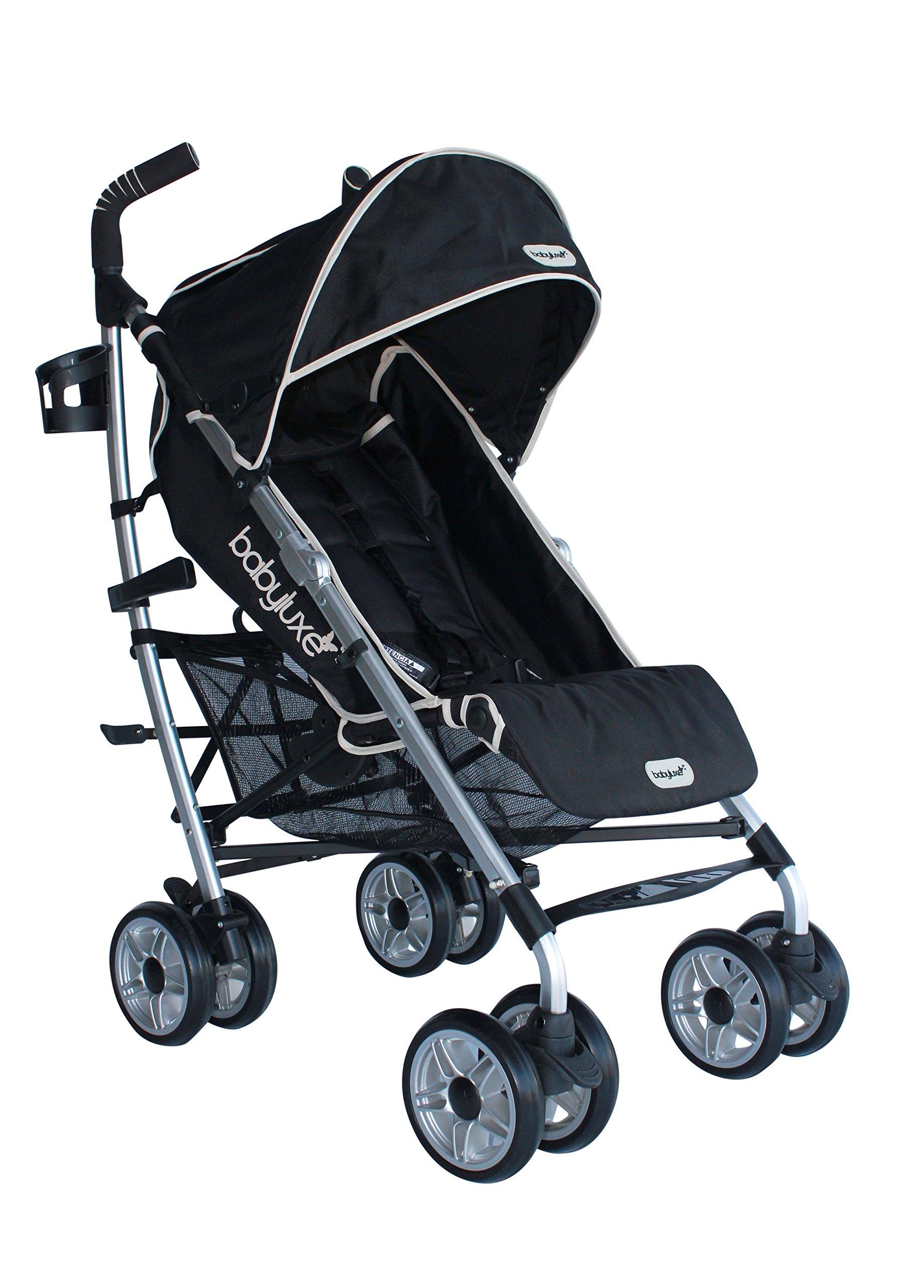 Baby Luxe 3022000200005 - Silla de paseo, chasis mate, base negra