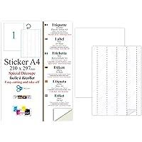20 EX Papier adhésif blanc A4 autocollant SPECIAL DECOUPE : une feuille adhésive pour créer et imprimer vos propres…
