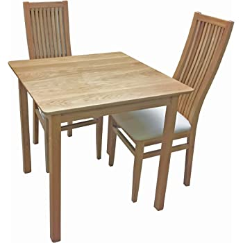 fc45ab41d47 AnBerCraft Beaumont Range Solid Top Small Dining Table Set with 4 Cambridge  Chairs