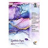 URSUS Yupo 16264000 synthetisch papier, DIN A3, 25 vellen, 85 g/m², synthetisch, glad oppervlak, scheur- en waterbestendig, U