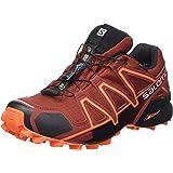 Salomon Speedcross 4 GTX, Zapatillas de Trail Running Hombre, Marrón (Madder Brown/Black/Red Orange), 41 1/3 EU