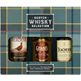 Tartan Scotch Whisky Selection - Famous Grouse, Grant's & Teachers Whisky 3 x 5cl