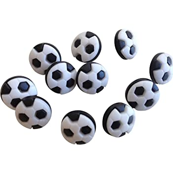 Always Knitting And Sewing 10 Football Buttons Black /& White