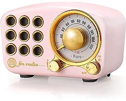 Retro Radio Bluetooth Speaker, Vintage Radio- Greadio FM Radio With Old fashioned Classic Style, Strong Bass Enhancement, Lou