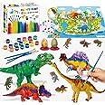 Felly Dinosaurios Juguetes 6 Años, Manualidades para Niños, 47 Piezas Pintura Kit con Tapete de Juego, Figuras Dinosaurios, 2