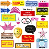 Party Propz™ Birthday photobooth Props 23 pcs
