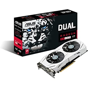 ASUS Dual-Fan Radeon Rx 480 4GB OC Edition AMD Gaming Graphics Card with DP 1.4 HDMI 2.0 DUAL-RX480-O4G DUAL 4GB