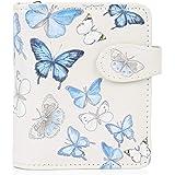 Shagwear portafoglio per giovani donne Small Purse : Diversi colori e design: (Farfalle/Butterflies)