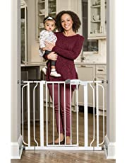 Regalo Easy Step Extra Wide Baby Safety Gate (White)