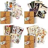 120 Autocollants de Scrapbooking Vintage, Autocollants Journalisation Fournitures de Journal Indésirable Stickers en Papier R