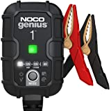 NOCO GENIUS1EU, 1A cargador de batería automático inteligente portátil de 6V y 12V, mantenedor de batería y desulfador para m