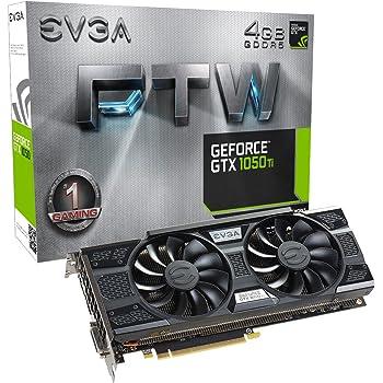 EVGA 04G-P4-6255-KR Carte Graphique 3D GeForce GTX 1050Ti SSC Gaming ACX 3.0, 4Go GDDR5, Dx12, CompatibleOSD (PXOC) - GTX 1050 Ti FTW ACX 3.0 Noir