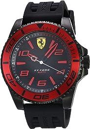 Ferrari Men's XX KERS Stainless Steel Quartz Watch with Silicone Strap, Black, 23 (Model: 0830306