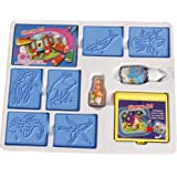 Ratna's Educational Art & Craft Stamp Art Aqua Small with 6 Different Aqua Animal Stamps for Kids Ages 3+