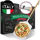 Pizza Divertimento® Pelle à pizza [83 cm] - Pelle à pizza inoxydable - Aluminium inoxydable - Filetage pratique et solide - P