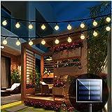 Solar String Lights Garden, 24 Ft 30 Crystal Balls Waterproof LED Fairy Lights, 8 Modes Outdoor Solar Powered Lights, Decorat