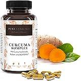 Capsule Curcuma Bio plus Piperina/Bioperine Forte Alto Dosaggio Testate in Laboratorio - Compresse Polvere + Estratto Premium