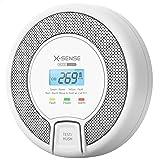 X-Sense CO-melder met digitaal display, koolmonoxidemelder, accurate sensor met levensduur van 10 jaar, vervangbare batterij,