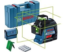 Bosch Professional Bouwlaser GLL 3-80 G (Groene Laser, Binnenafwerking, Werkbereik: 30 m, 4x Batterij, AA, In Transportkoffer