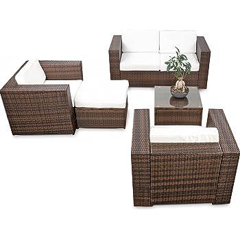 Amazon.de: Mombasa 96114090 4-teilig Loungegruppe, cappuccino / sand