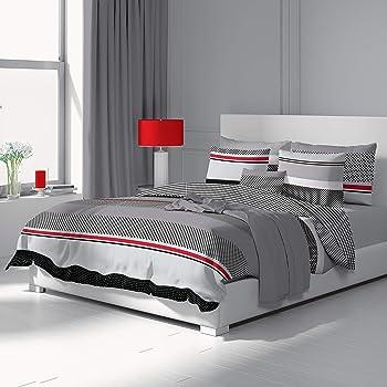 dilios bettw sche set 155 x 200 cm 2 teilig renforce 100 baumwolle mit rei verschluss dessin. Black Bedroom Furniture Sets. Home Design Ideas