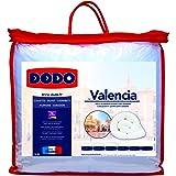 Dodo 2832930 Valencia - Piumino in poliestere, 30 x 60 cm, colore: Bianco