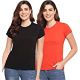 Two Dots Women's Regular fit T-Shirt - Pack of 2