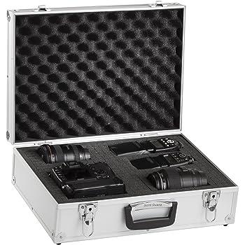 BRUBAKER Valigetta in alluminio - Valigetta porta attrezzi armi instrumenti vari - Internamente imbottita, argento
