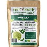 Poudre de feuilles de Moringa Bio 1KG | Vitamine A, Antioxydant, Détox, Peau | Qualité Supérieure