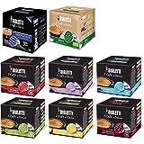 Bialetti 0186001 Filtro e guarnizioni di ricambio 128 capsule di caffè in alluminio assortite con gusto Midnight. Confezione