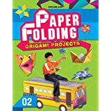 Paper Folding Origami Book 2 with Illustrated Printed Origami Sheets, 64 Pages