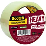 Scotch Verpakkingstape 3M Packaging Tape Heavy/Ultra sterk plakband, 1 rol, transparant, 50 mm x 50 m