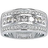 Diamondrensu Classic 2.78 CTW - Anello di fidanzamento in moissanite incolore taglio rotondo