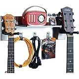 shinar acier inoxydable 2 cintre de guitare, support de support mural de guitare pour guitares électriques acoustiques 3 étag