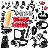 Robustrion 40 in 1 Mounts, Straps & Accessories Kit for GoPro Hero 8/7/6/5/4/3/2/1/SJCAM/Akaso/Apeman/Xiaomi Yi Action Camera