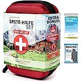 Premium första hjälpen-kit från Tyskland Urban Medical®   DIN 13167   GRATIS räddningsfilt   Camping sport resor cykel & hem