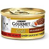 Purina Gourmet Gold Helfoder för Vuxna Katter, Paket med 12 x 85 g