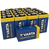 VARTA Industrial Batterij 9V Blok Alkaline Batterijen 6LR61 - Verpakking met 20 stuks, Made in Germany