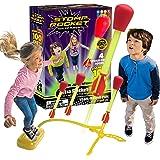 Stomp Rocket Ultra Rocket LED, 4 Raketen Outdoor Raketenspielzeug Geschenk für Jungen und Mädchen Kommt mit Spielzeugraketenw