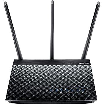 Asus DSL-AC750 Modem Router Wireless, Dual Band 802.11, ADSL e VDSL a 100 MBps, 3 Antenne Esterne, Velocità AC750