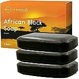 Savon Noir Africain Naturel Vegan Pour Corps Visage et Mains Détoxifiant Traitement Bouton Acne Nettoyage Visage Points Noirs