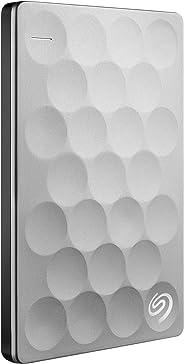 Seagate Backup Plus Ultra Slim 1TB Portable External Hard Drive, USB 3.0 Platinum - STEH1000100
