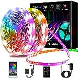 Ruban LED 20M, L8star LED Ruban Intelligent led chambre 5050 RGB SMD Multicolore Décorative Bande LED Lumineuse avec Télécomm